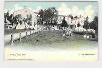 PPC POSTCARD MICHIGAN MACKINAC ISLAND OLD MISSION HOUSE EXTERIOR VIEW