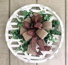 Tobacco Basket Front door Wreath Everyday Wreath Farmhouse Primitive Spring