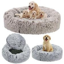 Plush Anti-anxiety Dog Cat Vegan Donut Pet Bed Bottom Waterproof up to XXL 118cm