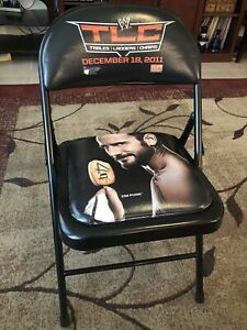 WWE TLC RINGSIDE CHAIR - TABLES, LADDERS, & CHAIRS DEC 18 2011 BALTIMORE CM PUNK