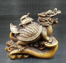 China  pure brass money dragon turtle feng shui decorative arts and crafts gift.