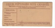 Old Medicine Blotter Liquid Peptonoids With Creosote Tuberculosis Typhoid Fever
