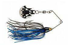 Strike King Spinnerbait Mini-King MK-76 Black Blue Head Black Blue Skirt 1/8oz