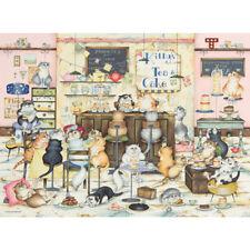 NOUVEAU! Ravensburger Crazy Cats visite KITTYS Gâteaux Linda Jane Smith 500 pce Jigsaw