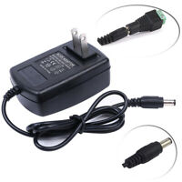 AC TO DC 12V 2A US POWER SUPPLY ADAPTER CHARGER FOR CAMERA / LED STRIP LIGHT 24W