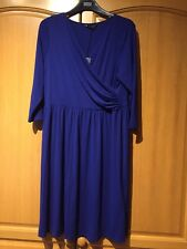BNWT M&S royal blue mock wrap over front dress UK 16 - Spring Summer Hot Colour