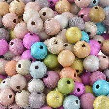 Neu 300 Mix Kreppperlen  Spacer Perlen Beads Mehrfarbig 8mm JO