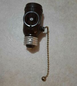 Ge Light Socket Adapter with Pull Chain 2 Outlets