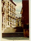 ANTIGUA FOTOGRAFIA, ESCALERAS DE LA CALLE SEGOVIA A CALLE NUNCIO, MADRID 1971