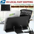 Portable Steel Book Stand Bookstand Adjustable Reading Desk Holder Black US