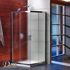 Box doccia cabina flat cristallo 6mm opaco stampato 80x100 altezza 190