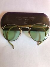 Vintage American Optical Green Lens Safety Glasses Goggles Motorcycle Steampunk