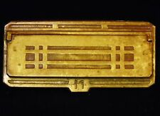 Antique Arts Crafts Mission Sullivan/Lloyd Wright  Brass Mail Door Letter Slot