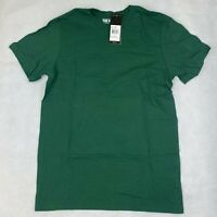 Adidas T-Shirt Men Size Small Green Athletics Bade of Sport Tiny Script Tee