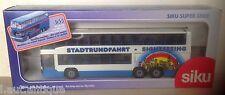 SIKU n° 3814 Autocar Mercedes O 404 DD Stadtrundfahrt Sightseeing 1/55 ème vinta