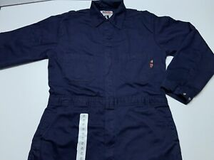 Mens Walls Flame Resistant FR Navy Blue Coveralls Size Large 44 Tall