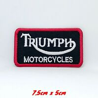 Triumph Motorcycles Biker Rocker Iron Sew On Embroidered Patch #122