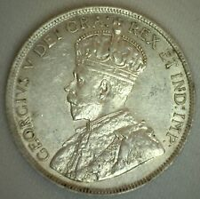 1916 Canada Silver 50 Cent Coin Almost Uncirculated George V Ruler 50c Canadian