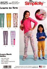 Simplicity Sewing Pattern 8525 Childs Girls Leggings Sizes 3-6