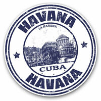 2 x Vinyl Stickers 7.5cm - Havana City Cuba Retro Travel Map Cool Gift #4583