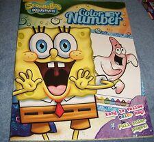 Spongebob Squarepants Color By Number Book FREE SHIP