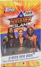 2019 Topps WWE Summerslam Wrestling Hobby Box New Sealed 2 AUTOGRAPHS