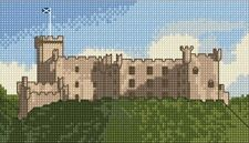 "Dunvegan Castle, Isle of Skye - Scottish Mini Cross Stitch Kit 7"" x 4"" 14 Count"