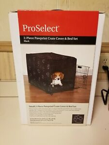 Proselect 2 Piece Pawprint Pet Crate Cover & Bed