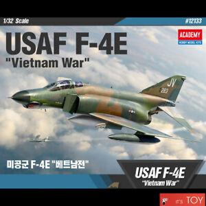 "Academy 1/32 USAF F-4E ""Vietnam War"" Phantom Aircraft Plastic model kit #12133"
