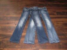 Women's Miss Me Jeans Size 26 Low Rise Boot Cut Flap Pockets Lot of 2 Hemmed EUC
