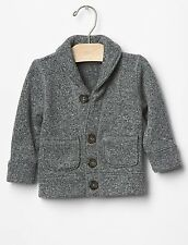 GAP Baby Boy 3-6 Months NWT Gray Fleece Cardigan Button Down Sweater Jacket
