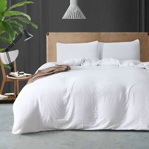 Comfort Cotton Bedding Set Duvet Quilt Cover Pillowcases Twin Queen King US Size