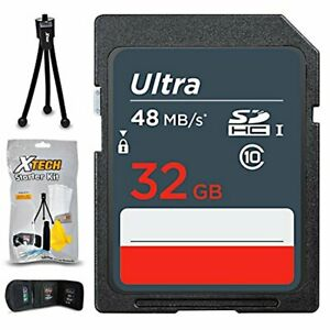 32GB SD Memory Card for Canon Powershot G7 X, D30, SX520 HS, SX400, G1 X Mark II