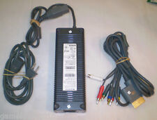 Microsoft XBOX 360 175W Power Supply Brick w/ Power Cord & HD Component Cable!!