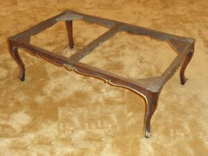 19 c. Italian Provincial Rococo Carved Walnut  Frame Table Paoletti Firerenze