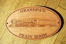 """PERSONALIZED """"GRANDPA'S TRAIN ROOM""""  WOODEN SIGN for GRANDPA"""