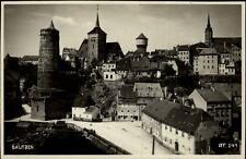 Bautzen alte Postkarte Sachsen AK ca. ~1930/40 Teilansicht mit Michaelis Kirche