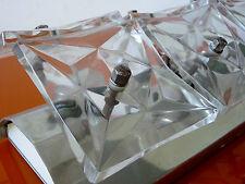 Kinkeldey Ice Glass Eisglas 60er 70er Wandleuchte Wandlampe Leuchte Lampe