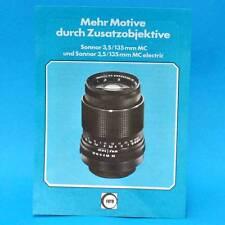Sonnar 3,5 135 mm mc Electric 1978 | werbezettel publicidad RDA dewag Berlin B