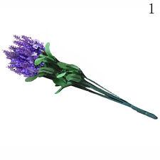 10 Kopf Kunstpflanze Kunstblume Lavendel Künstliche Blumen Seidenblumen Dekor Ne
