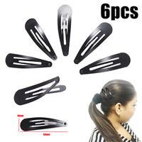 Set of 6 Girls Hair Clips Snap Bendies Sleepies Grips 3cm 4cm 5cm Colour Choice