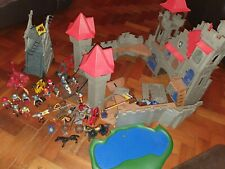 Playmobil Knight's Empire Castle 3268, Attack Tower 4441, and Dragon 3327