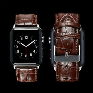 Genuine Leather Band Strap For Apple Watch Series 6 5 4 3 2 1 38/40/42/44mm