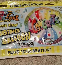 "SingaTune 28 inch Singing Foil Balloon  CONGRATS ""CELEBRATION"" CONGRATULATIONS"