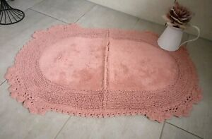 Bath Mat Rug Bath Mat Bathroom Rug Shower Mat Shabby Chic ` Rose `