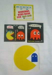 Vintage 80's Pac Man Stickers Fleer #'s 17 38 39 One Unbranded Unpeeled EUC
