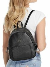 GUESS WOMENS BRIDGES LOGO G NYLON BACKPACK BLACK