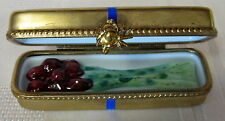 ROCHARD LIMOGES ROSE BOX HAND PAINTED FRANCE BNIB PORCELAIN HINGED F/S