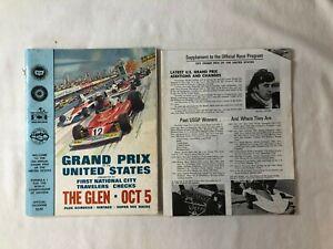 Vintage RACE PROGRAM 1975 Grand Prix Watkins Glen Formula One F1 Fittipaldi