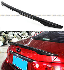 FITS FOR 2014-2018 INFINITI Q50 Q50S OE STYLE CARBON FIBER TRUNK SPOILER WING